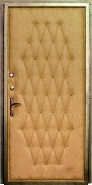 стальная дверь обитая дермантином