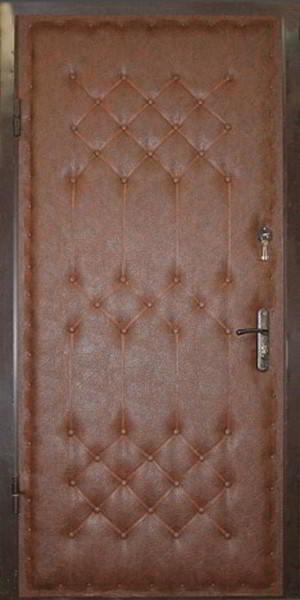 входная дверь с отделкой кожзам